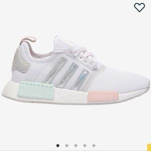 Adidas NMD R1 White Grey ice mint icey pink Grunge